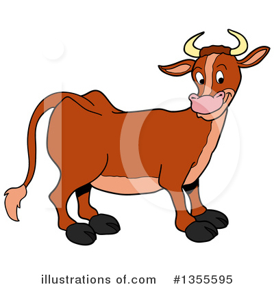 Cow Clipart #1355595 by LaffToon