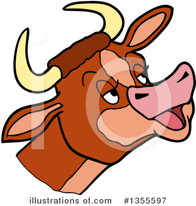 Cow Clipart #1355597 by LaffToon