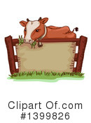 Royalty-Free (RF) Cow Clipart Illustration #1399826