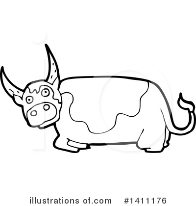 Cow Clipart #1411176 by lineartestpilot