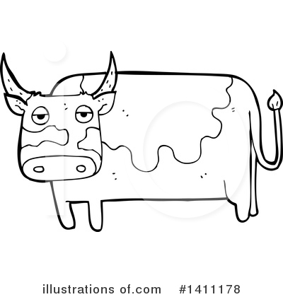 Cow Clipart #1411178 by lineartestpilot