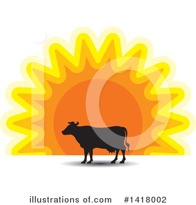 Sunset Clipart #1418002 by Lal Perera