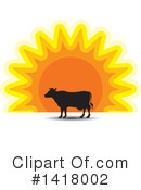 Royalty-Free (RF) Cow Clipart Illustration #1418002