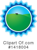 Royalty-Free (RF) Cow Clipart Illustration #1418004