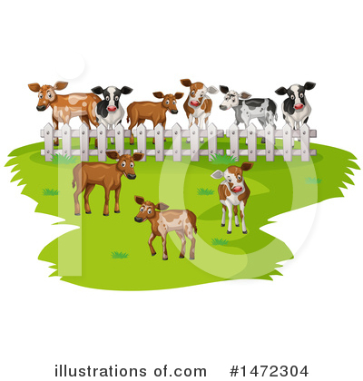 Royalty-Free (RF) Cow Clipart Illustration by Graphics RF - Stock Sample #1472304