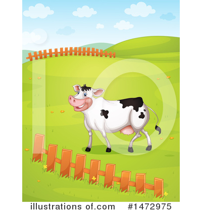 Royalty-Free (RF) Cow Clipart Illustration by Graphics RF - Stock Sample #1472975