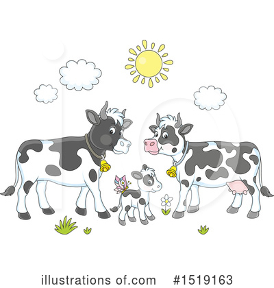 Cow Clipart #1519163 by Alex Bannykh