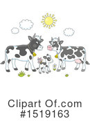 Royalty-Free (RF) Cow Clipart Illustration #1519163