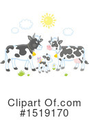Royalty-Free (RF) Cow Clipart Illustration #1519170