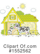 Royalty-Free (RF) Cow Clipart Illustration #1552562