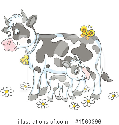 Royalty-Free (RF) Cow Clipart Illustration by Alex Bannykh - Stock Sample #1560396