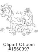 Cow Clipart #1560397 by Alex Bannykh