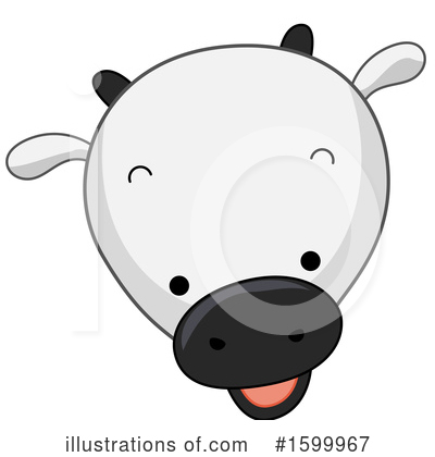 Royalty-Free (RF) Cow Clipart Illustration by BNP Design Studio - Stock Sample #1599967