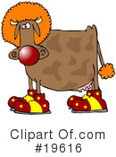 Royalty-Free (RF) Cow Clipart Illustration #19616