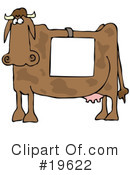Royalty-Free (RF) Cow Clipart Illustration #19622