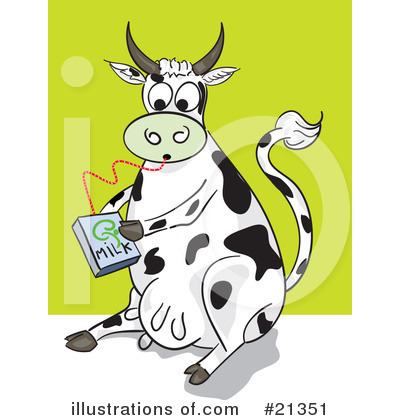 Royalty-Free (RF) Cow Clipart Illustration by Paulo Resende - Stock Sample #21351