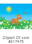 Royalty-Free (RF) Cow Clipart Illustration #217475