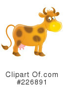 Royalty-Free (RF) Cow Clipart Illustration #226891