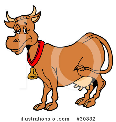 Cow Clipart #30332 by LaffToon