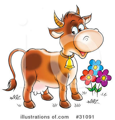 Cow Clipart #31091 by Alex Bannykh