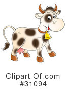 Royalty-Free (RF) Cow Clipart Illustration #31094