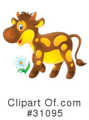 Royalty-Free (RF) Cow Clipart Illustration #31095