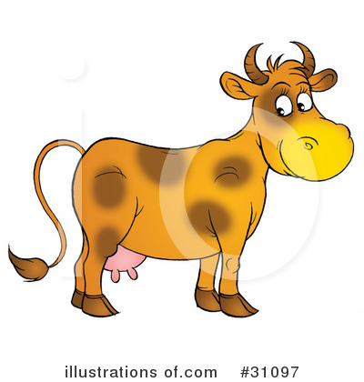 Cow Clipart #31097 by Alex Bannykh