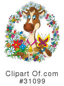Royalty-Free (RF) Cow Clipart Illustration #31099