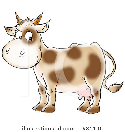 Cow Clipart #31100 by Alex Bannykh
