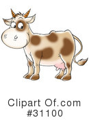 Royalty-Free (RF) Cow Clipart Illustration #31100