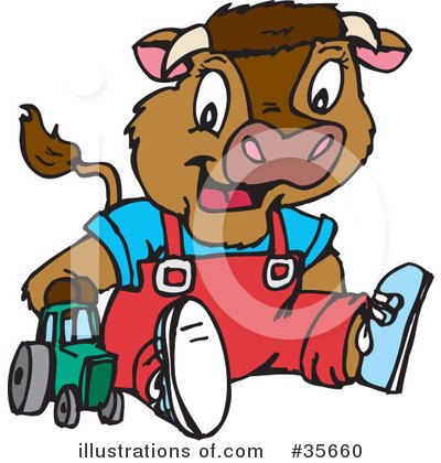 Cow Clipart #35660 by Dennis Holmes Designs