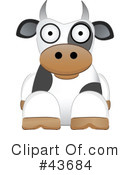 Royalty-Free (RF) Cow Clipart Illustration #43684