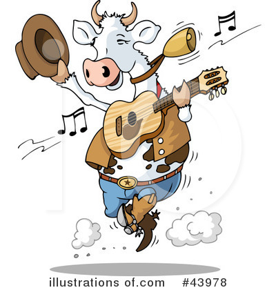 Royalty-Free (RF) Cow Clipart Illustration by Holger Bogen - Stock Sample #43978