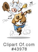Royalty-Free (RF) Cow Clipart Illustration #43978