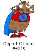 Royalty-Free (RF) Cow Clipart Illustration #4516