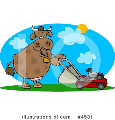 Royalty-Free (RF) Cow Clipart Illustration by djart - Stock Sample #4531