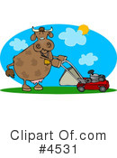 Royalty-Free (RF) cow Clipart Illustration #4531