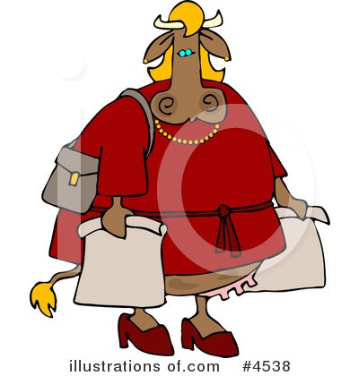 Royalty-Free (RF) Cow Clipart Illustration by djart - Stock Sample #4538