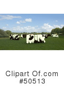 Royalty-Free (RF) Cow Clipart Illustration #50513