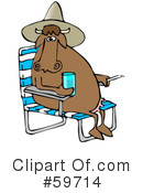 Royalty-Free (RF) Cow Clipart Illustration #59714