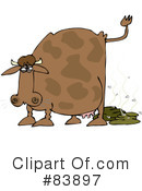 Royalty-Free (RF) Cow Clipart Illustration #83897