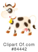 Royalty-Free (RF) Cow Clipart Illustration #84442