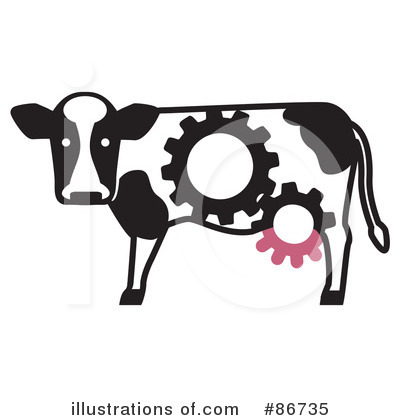Cow Clipart #86735 by Leo Blanchette