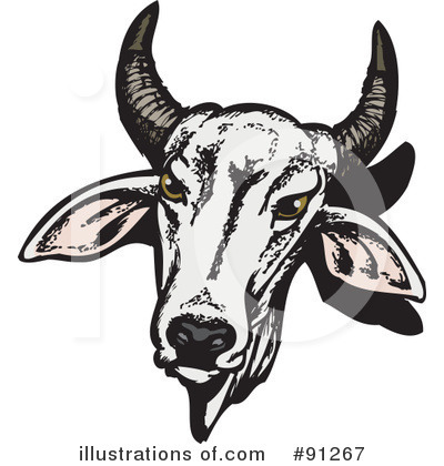 Cow Clipart #91267 by Dennis Holmes Designs