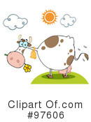 Royalty-Free (RF) Cow Clipart Illustration #97606