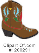 Cowboy Boot Clipart #1200291 by Maria Bell