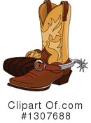 Royalty-Free (RF) Cowboy Boots Clipart Illustration #1307688
