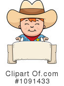 Royalty-Free (RF) Cowboy Clipart Illustration #1091433