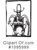 Royalty-Free (RF) Cowboy Clipart Illustration #1095999
