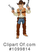 Royalty-Free (RF) cowboy Clipart Illustration #1099814